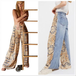 FREE PEOPLE ~ COMING and GOING WIDE LEG JEANS ~ 31
